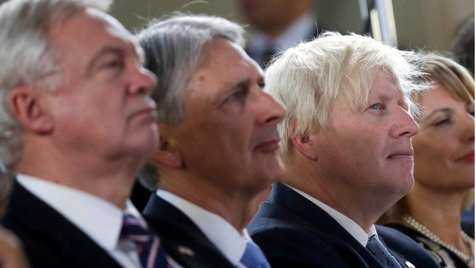 David Davis, Philip Hammond, Boris Johnson