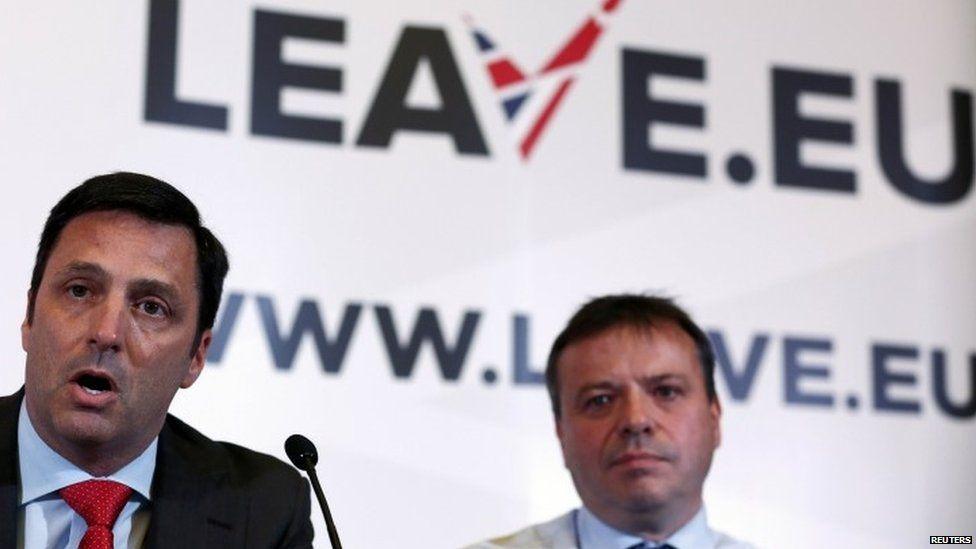 Arron Banks (right)