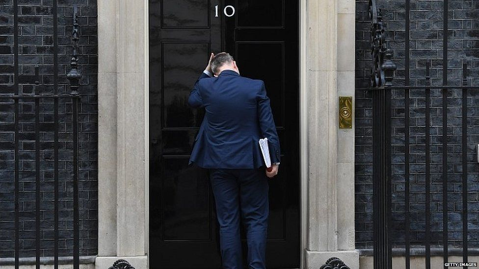 Gavin Barwell, Theresa May's chief of staff, outside Downing Street