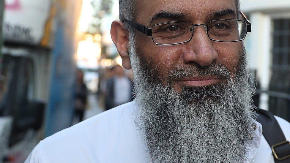 Anjem Choudary outside bail hostel on 19 October 2018
