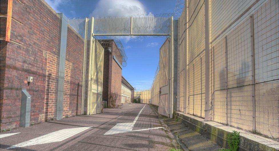 The gate of Blundeston Prison