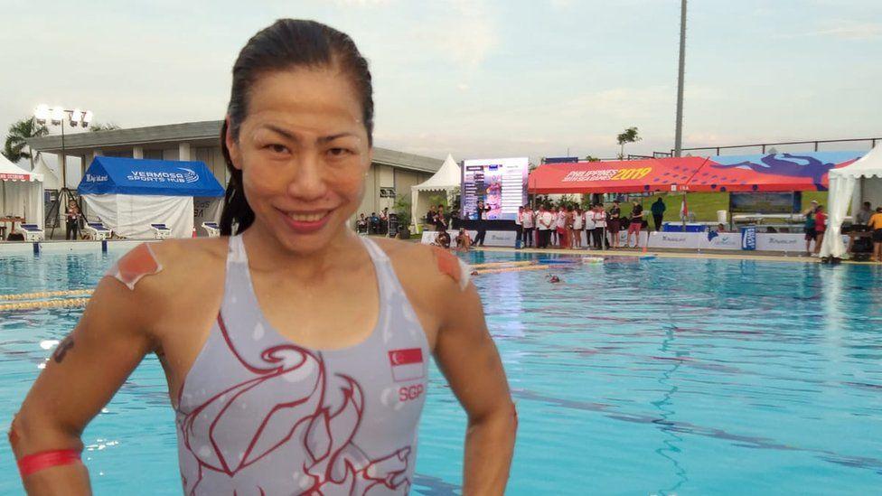 Christina at the games