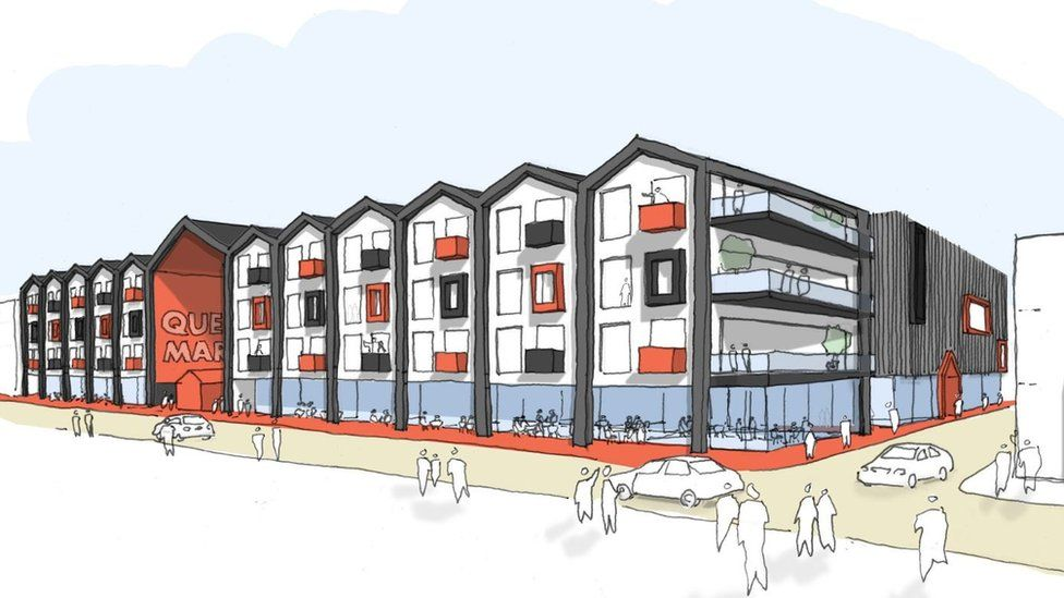 Flats form part of the £30m plans