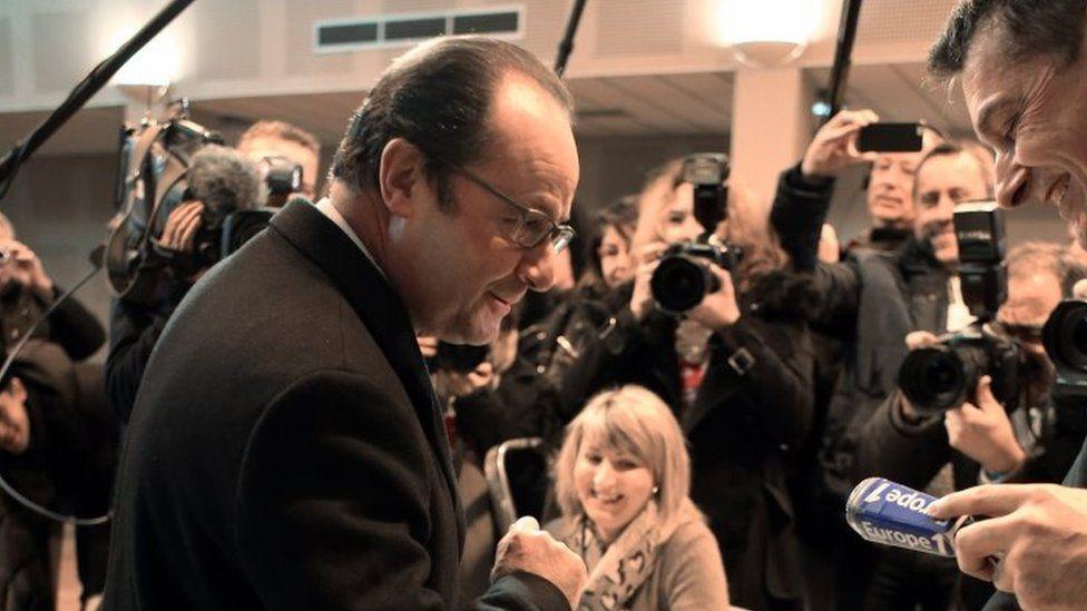 Francois Hollande votes in Tulle, western France. Photo: 13 December 2015