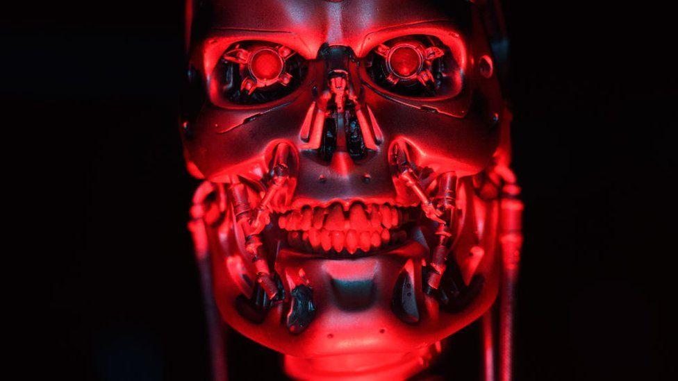 The original T-800 Endoskeleton robot used in filming Terminator Salvation