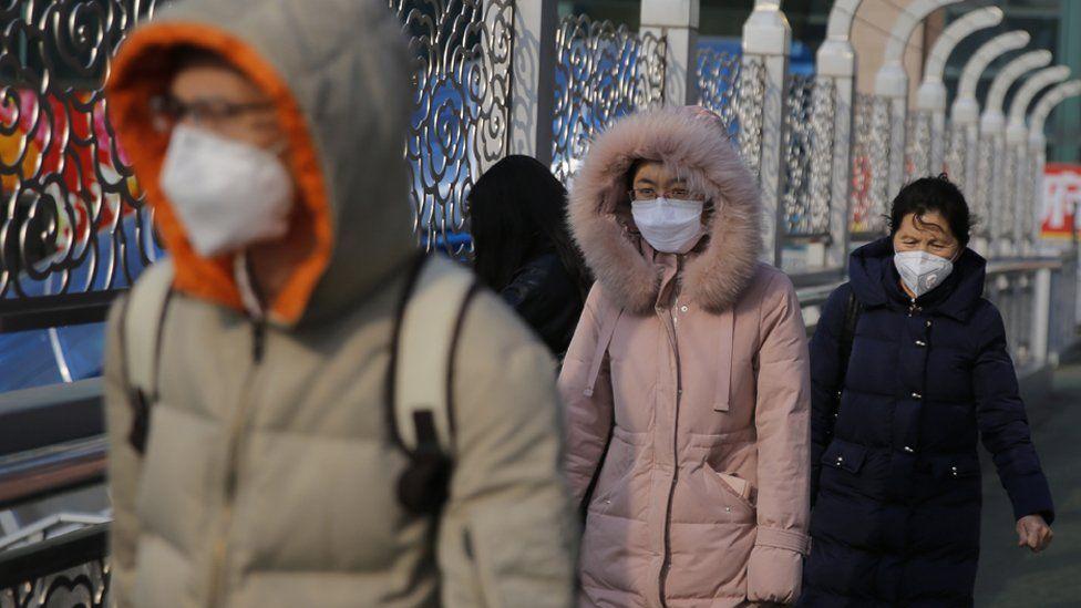 People wearing masks in Beijing