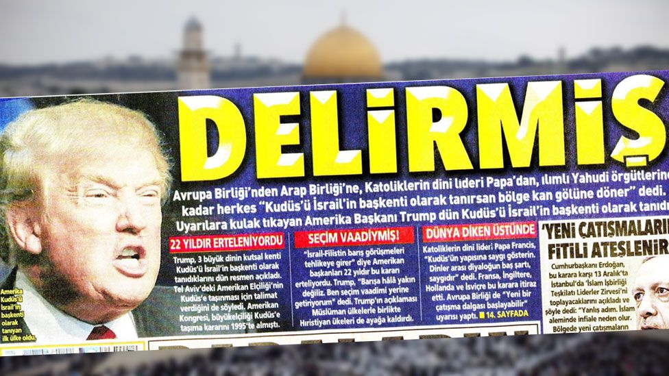 Front cover of Turkish newspaper Posta