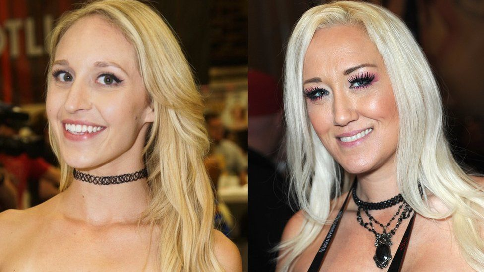 Adult performers Ginger Banks (left) and Alana Evans