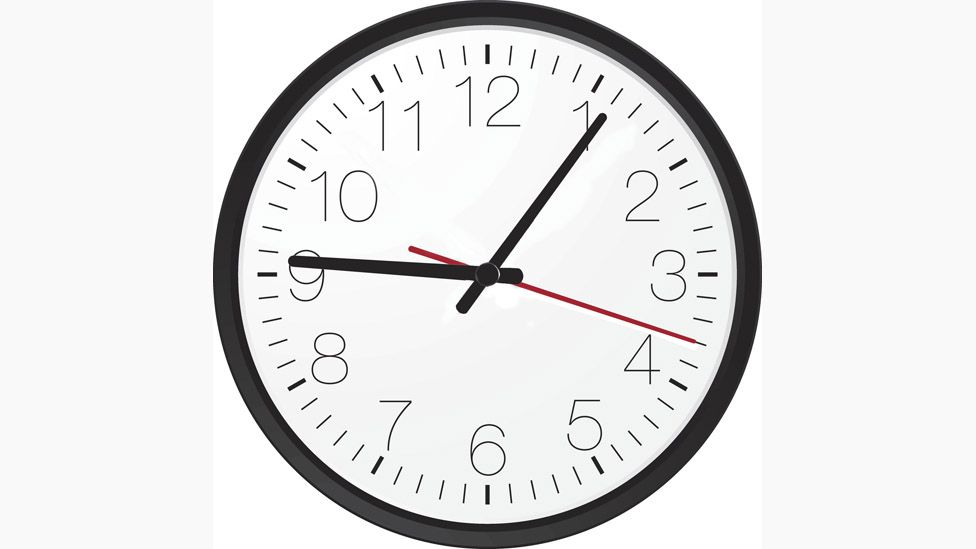 Clock showing 9.06