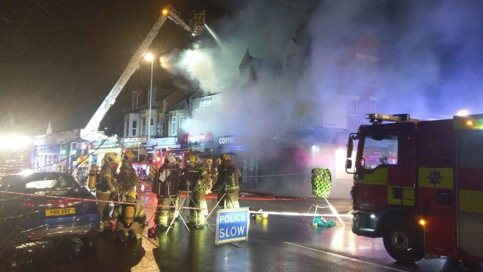 Fire in Kingsley Park Terrace