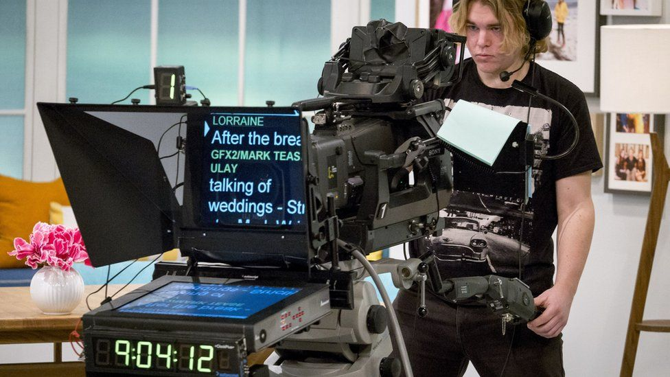 An autocue in an ITV studio