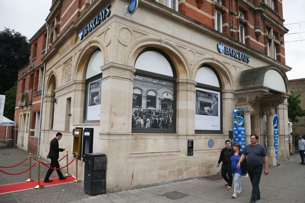 A Barclays branch