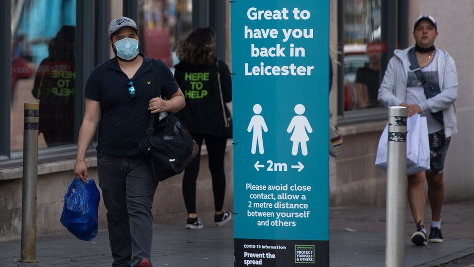 Leicester pedestrians
