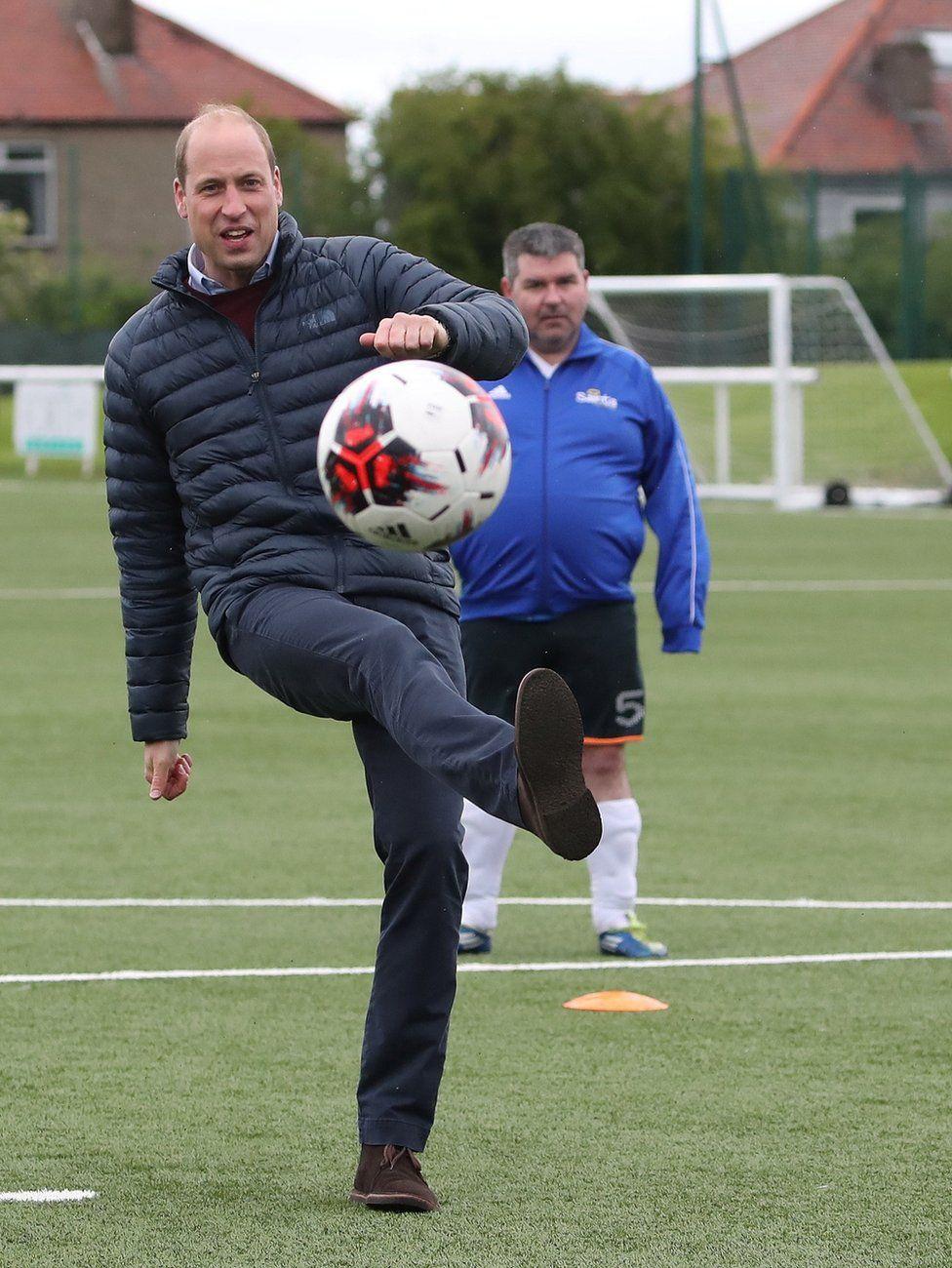Prince William visited to Spartans FC's Ainslie Park Stadium in Edinburgh