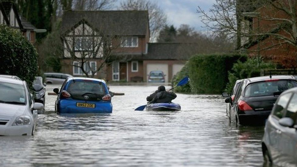 Flooding in Chertsey