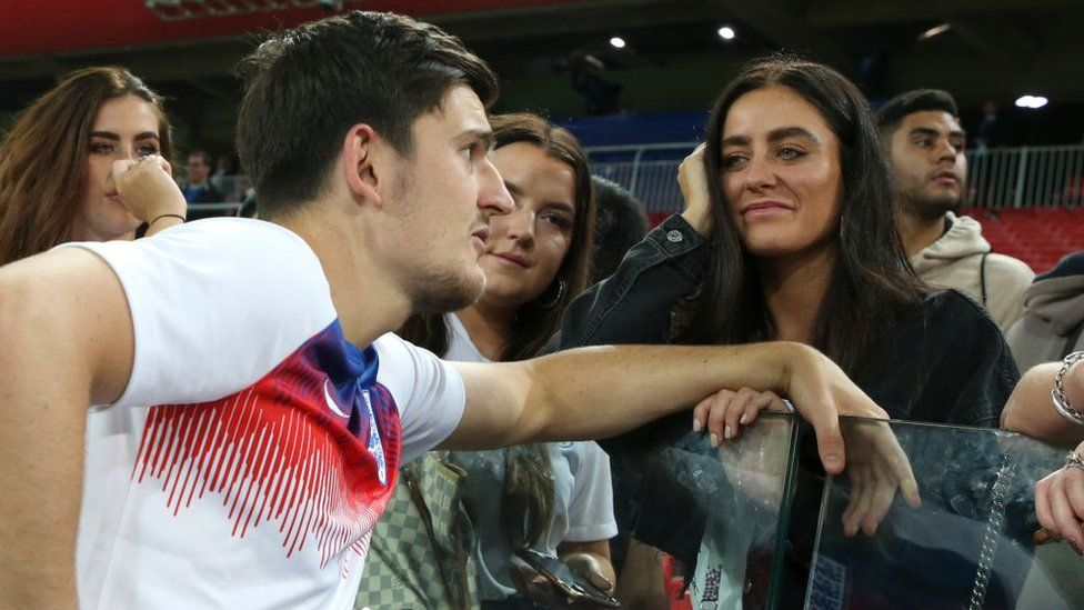 Harry Maguire and his girlfriend Fern Hawkins