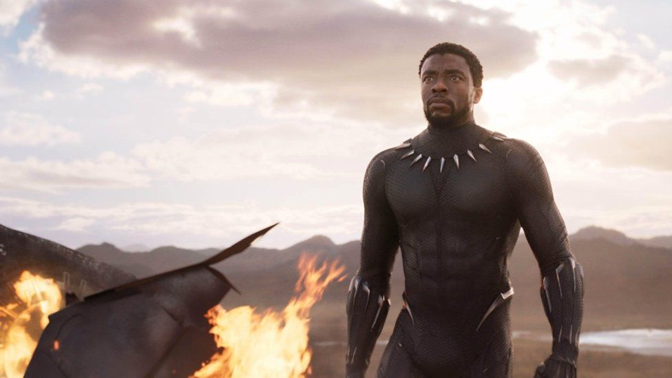 Still of T'Challa from the move Black Panther