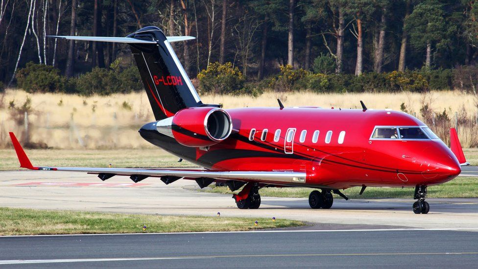 Lewis Hamilton's private jet