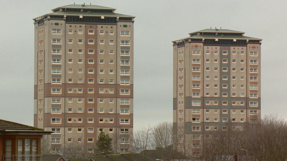 Motherwell tower blocks