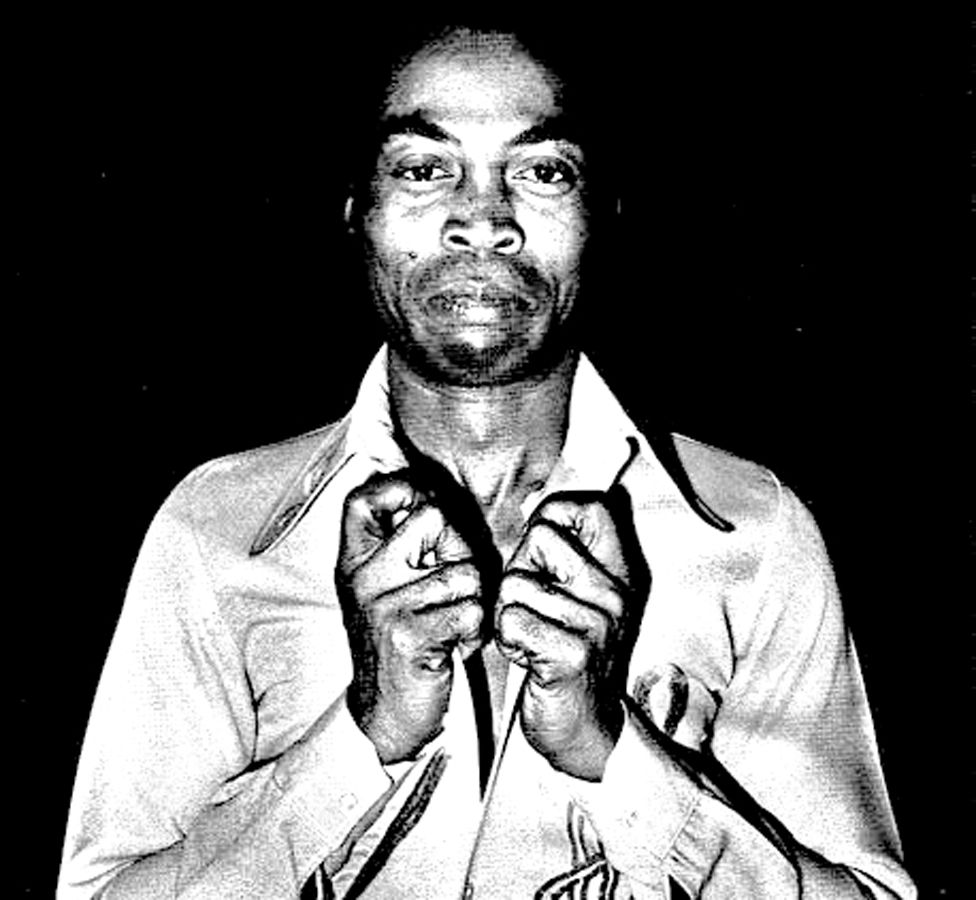 "A photo by Sunmi Smart-Cole entitled: ""Fela Over-Dressed"" - 1986"