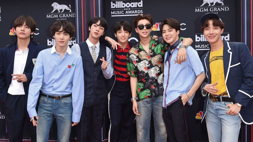 Musical group BTS attends the 2018 Billboard Music Awards at MGM Grand Garden Arena on May 20, 2018 in Las Vegas, Nevada