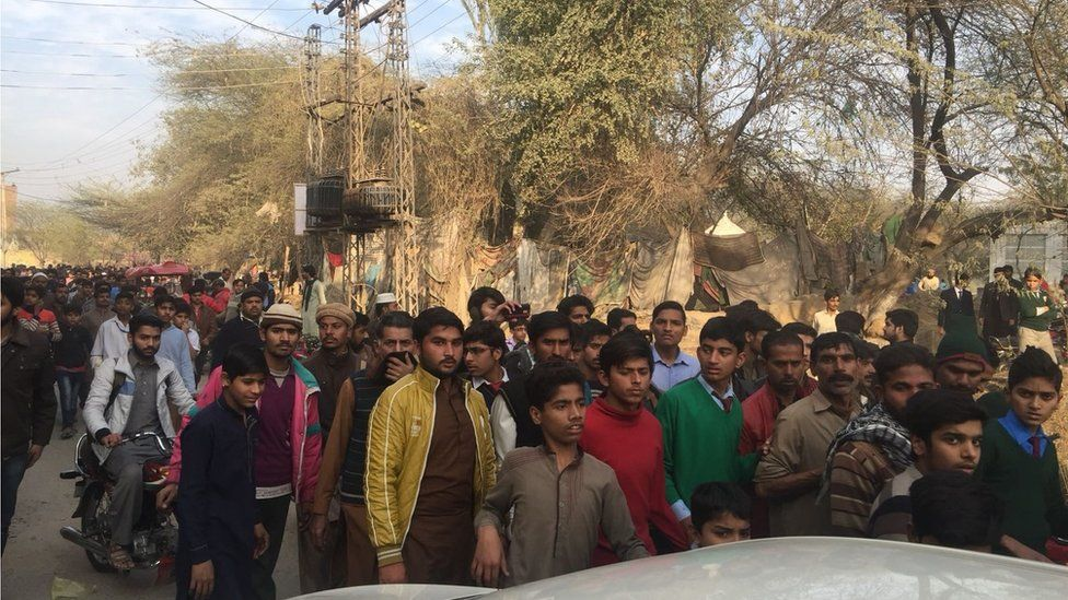 Protesters in Kasur