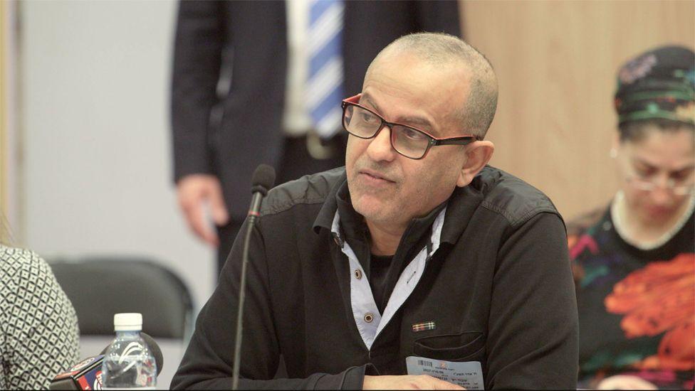 Rafi Shubeli, the Yemenite activist and historian giving evidence at the hearing
