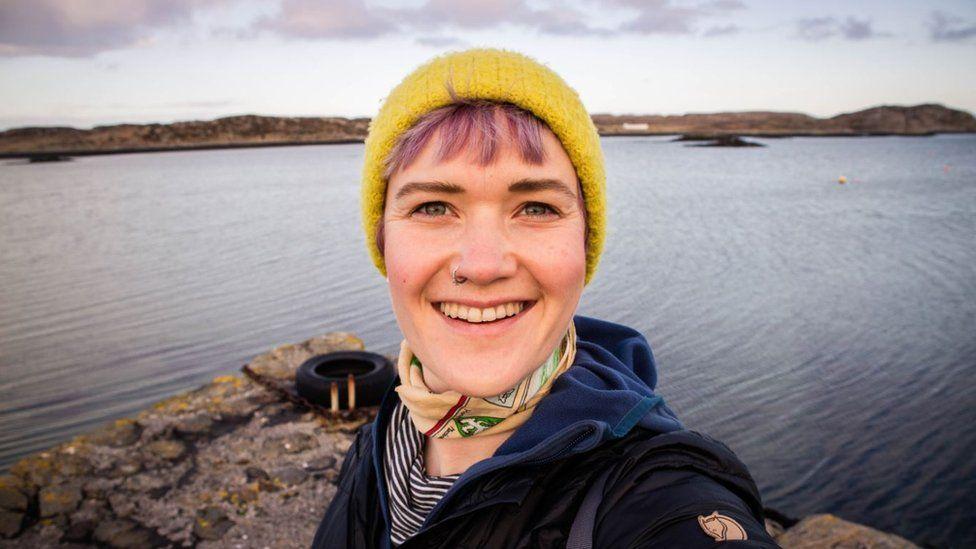 Kathi on the Isle of Coll