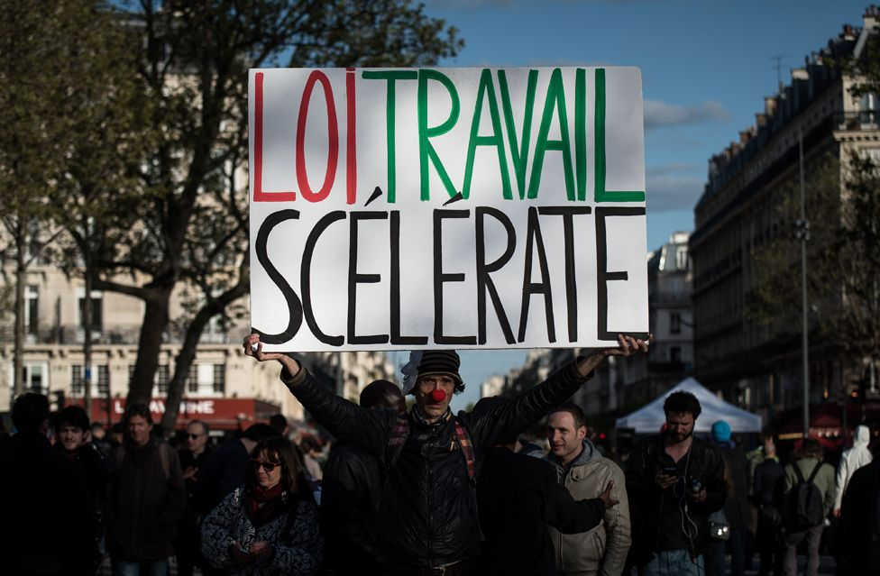 Labour reform protest in France 3 May
