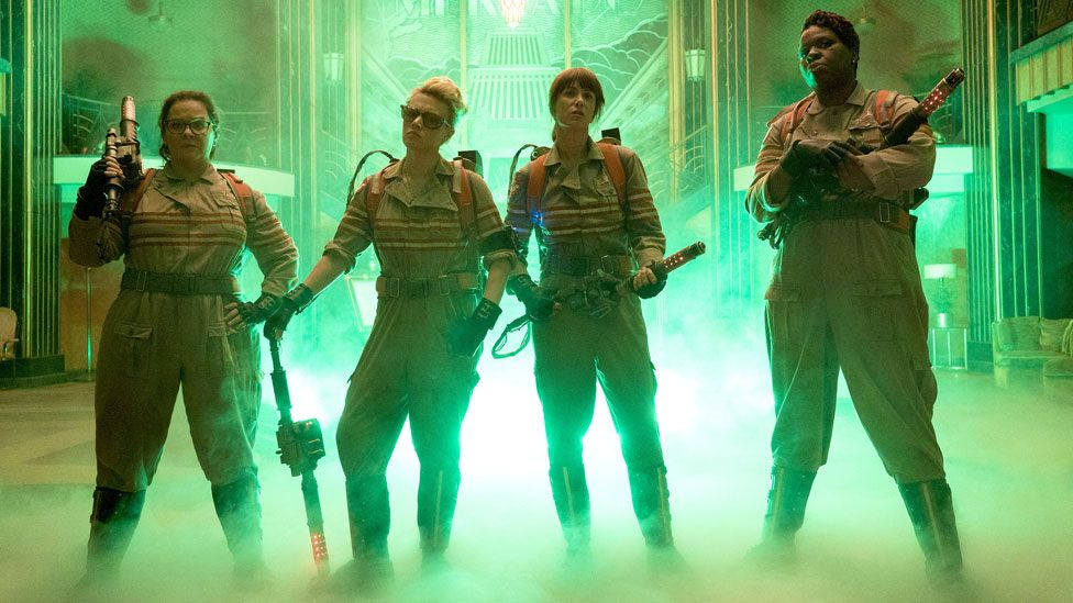Ghostbusters stars Melissa McCarthy, Kate McKinnon, Kristen Wiig and Leslie Jones