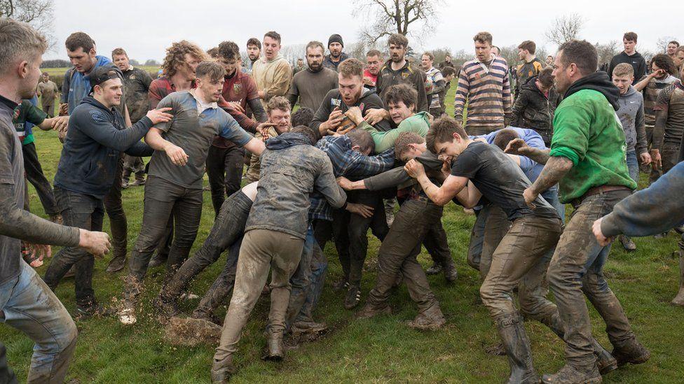 Muddy competitors