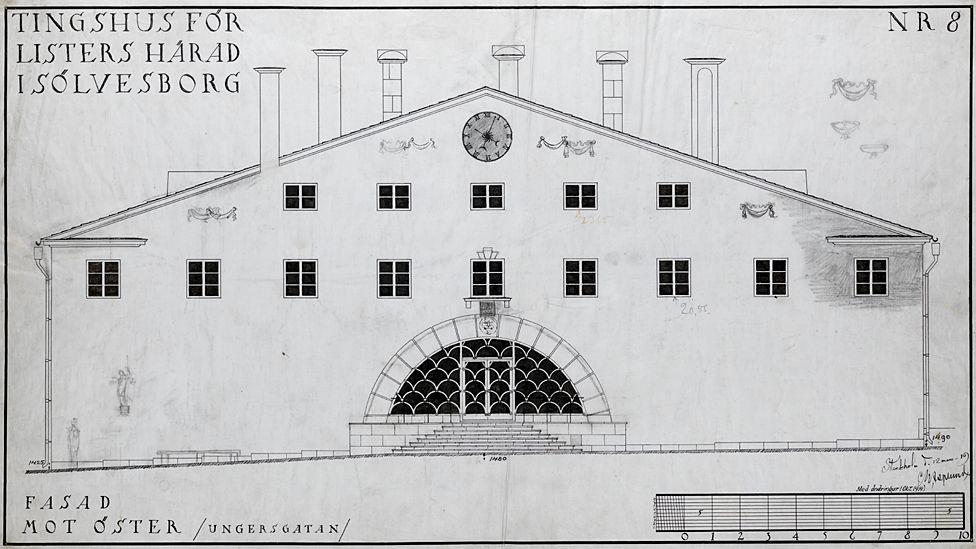 Lister Court House, by Erik Asplund - 1919