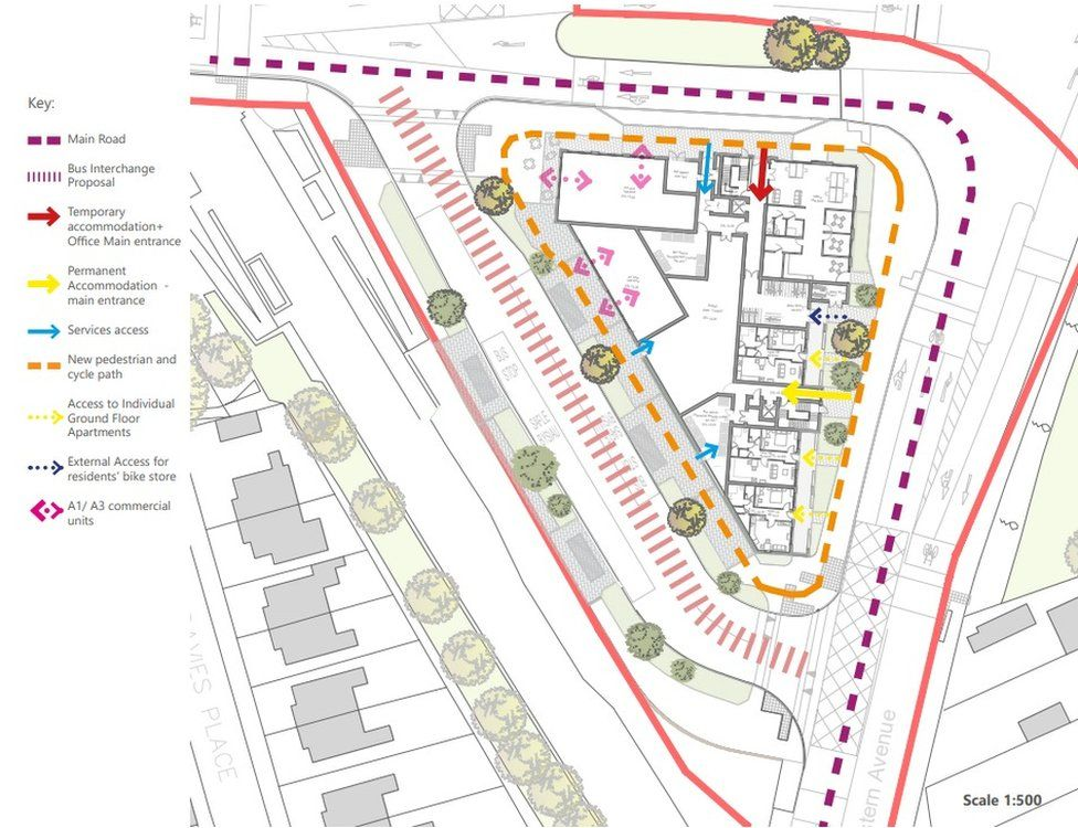 Layout of proposed development at the former Waungron Road tip in Cardiff