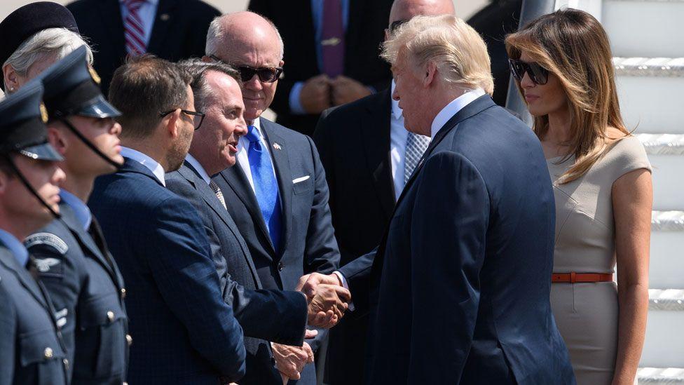 President Trump meeting Liam Fox