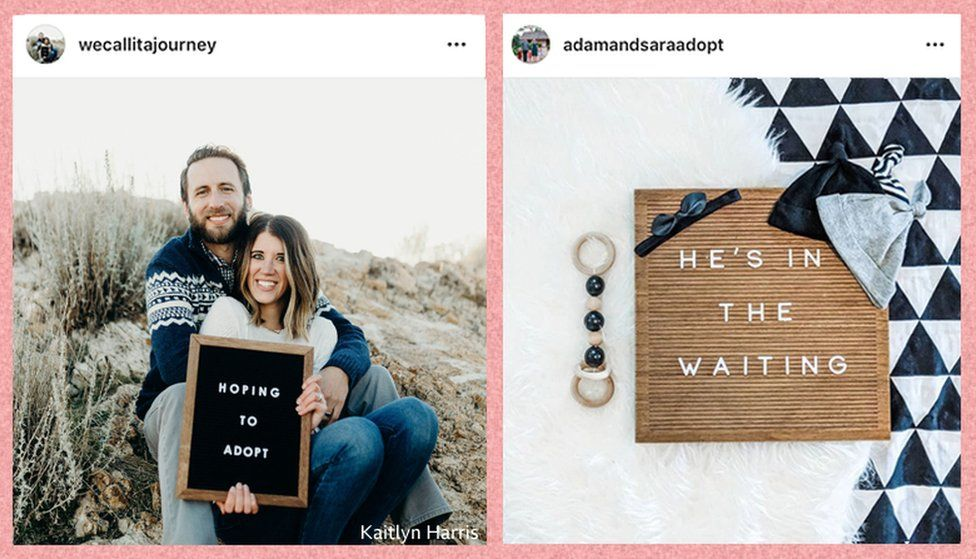 Letterboards of couples who want to adopt