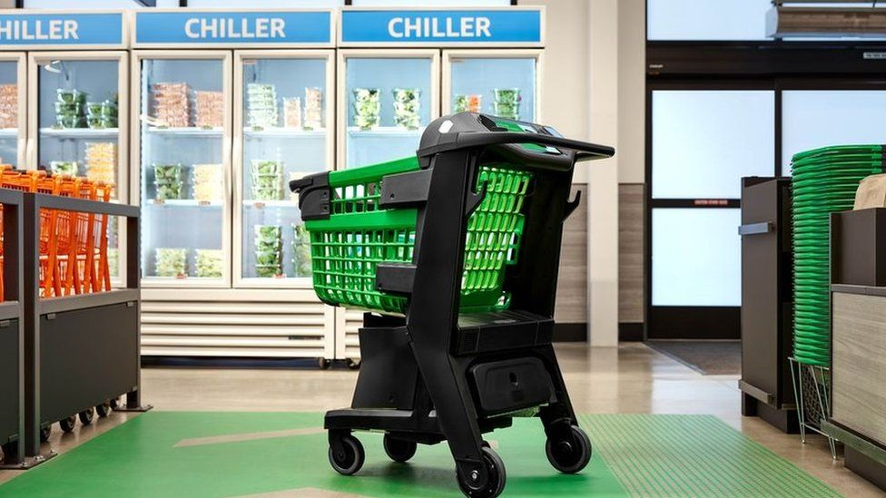 Hi-tech shopping trolley