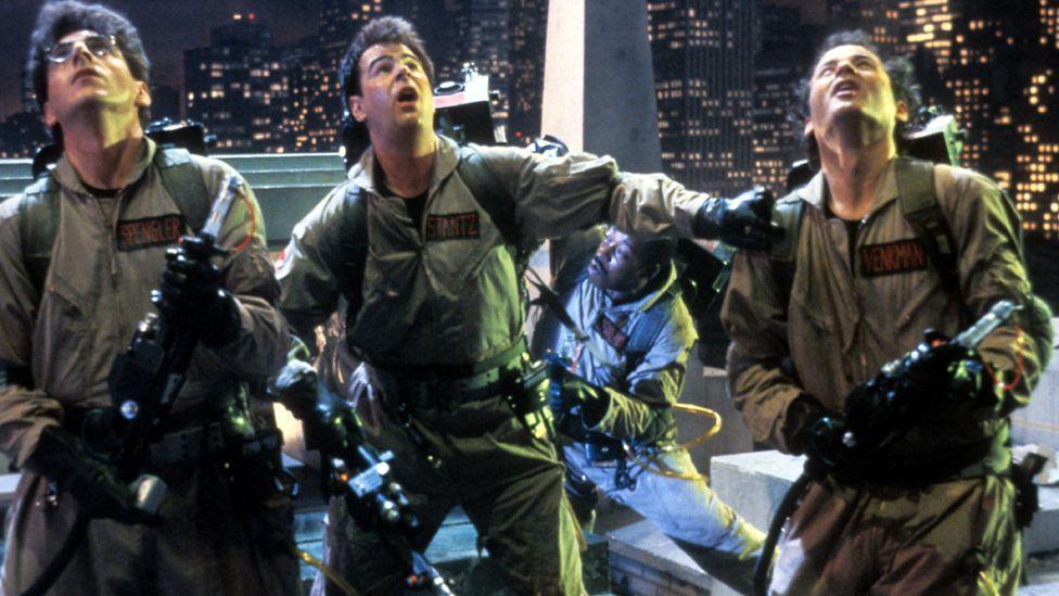 Dan Aykroyd (centre) and fellow Ghostbusters stars Bill Murray and Harold Ramis