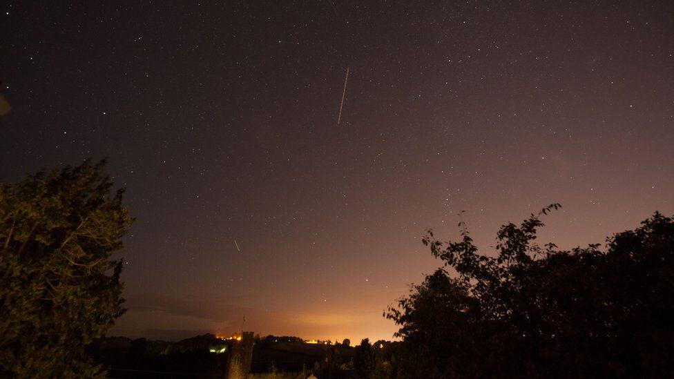 Perseid meteor shower near Exeter