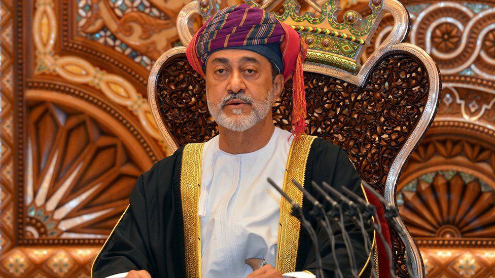 Oman's Sultan Haitham bin Tariq Al Said speaks during a swearing in ceremony on 11 January, 2020.