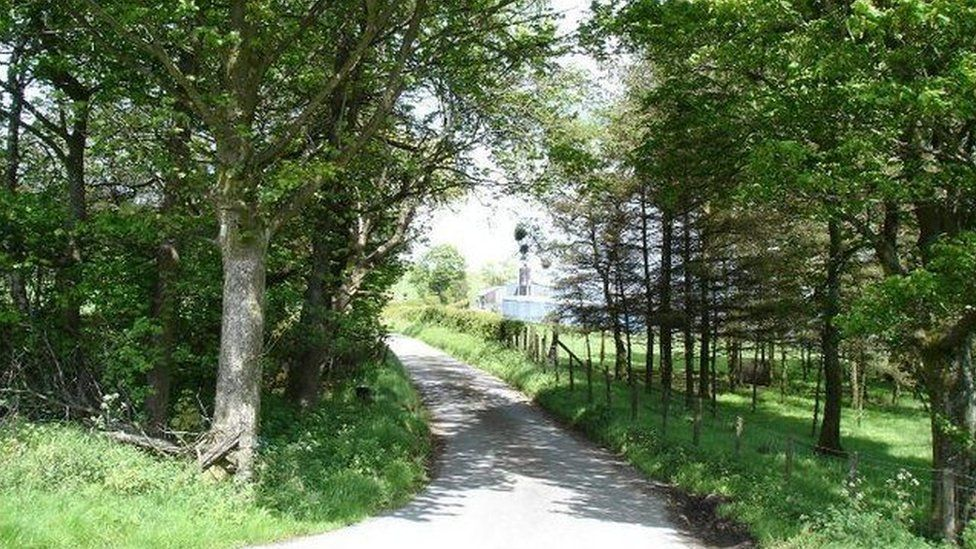 Lanes leading to forestry tracks at Cerrigydrudion, Conwy county