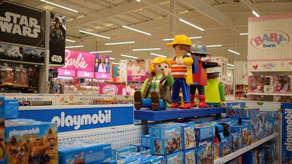 Toys inside a Toys R Us store in Luton