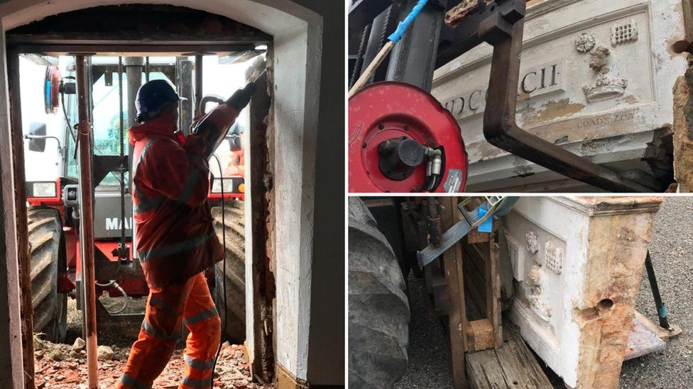 Coade stone removed from Orfordness Lighthouse