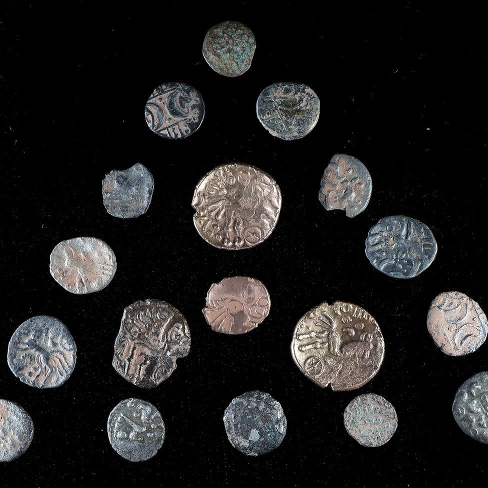 The full hoard of 19 coins