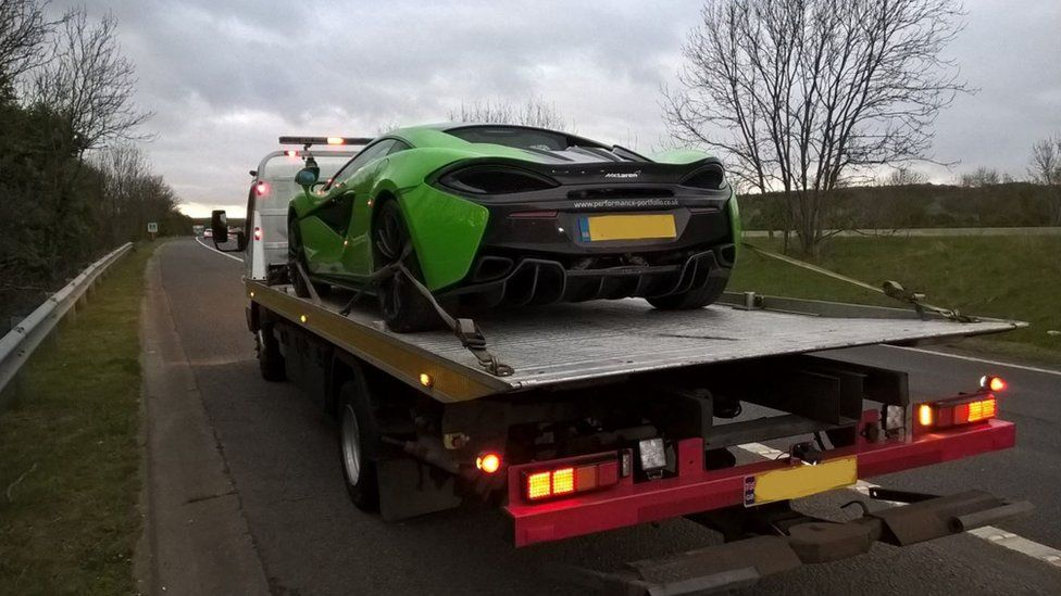 Supercar on the M1
