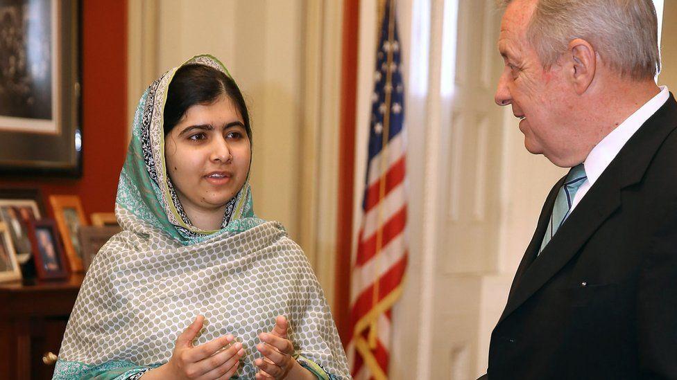 Malala Yousafzai meets Senate Minority Whip Richard Durbin
