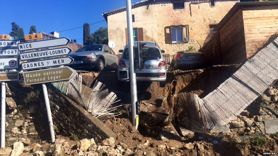Anna Maj also sent this picture of the flood damage in Biot, France