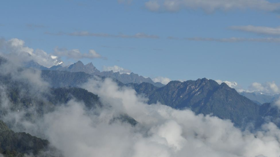 Bhutan mountain skyline