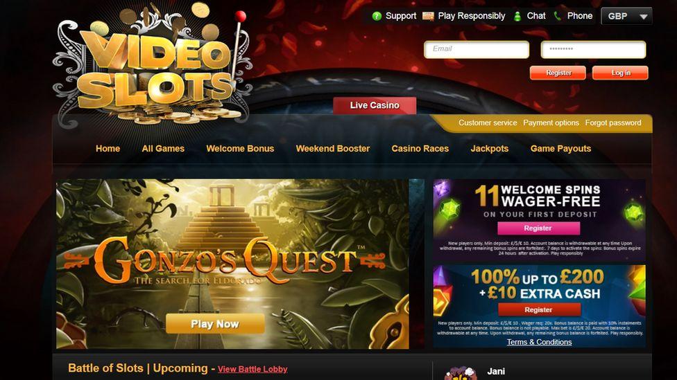 Videoslots website