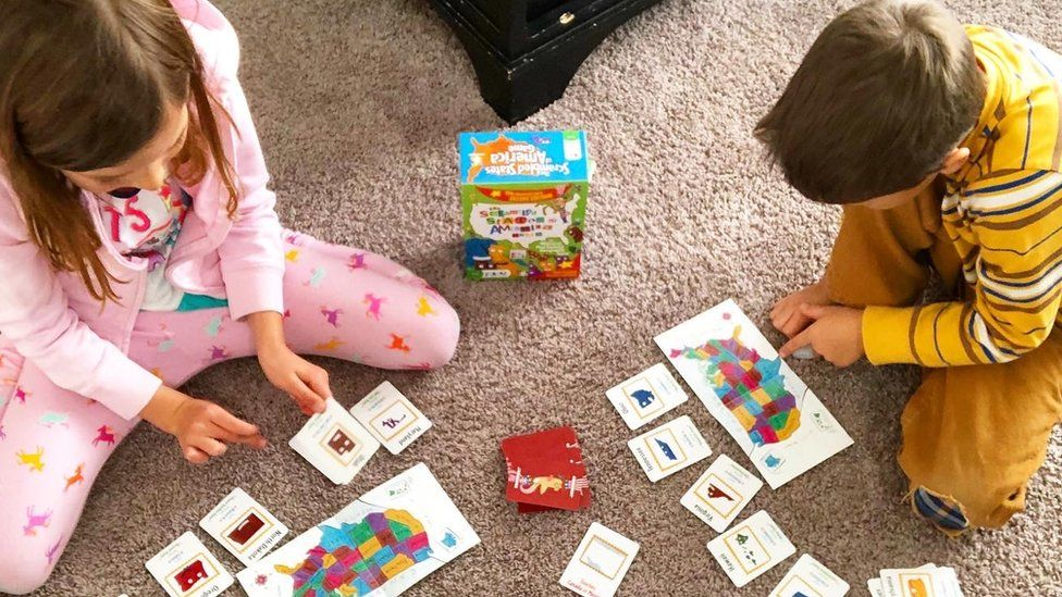 Alyssa Hulme's children playing games.