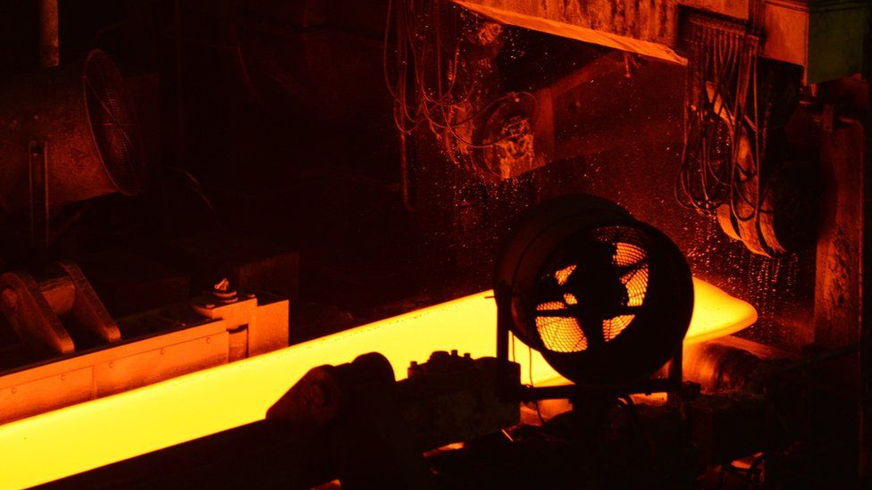 Molten steel in China